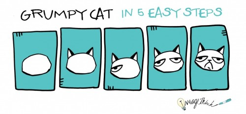 How to Draw Grumpy Cat in 5 Easy Steps