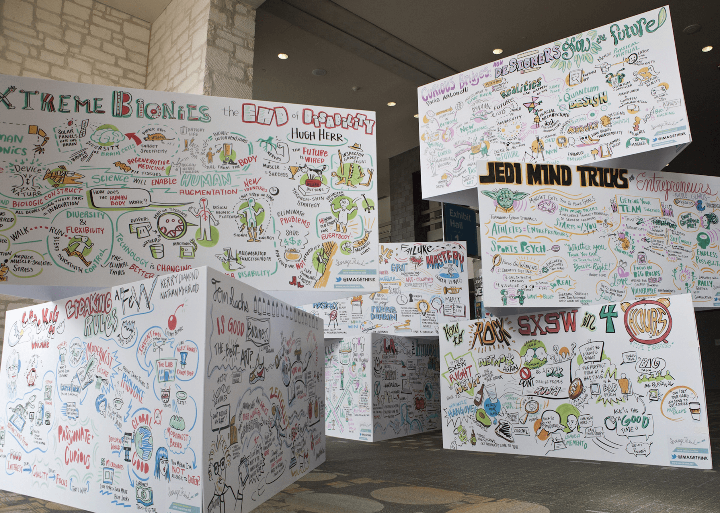 Graphic recording at SXSW conference